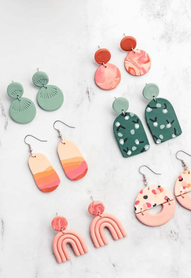 How to Make Polymer Clay Earrings – Sarah Maker