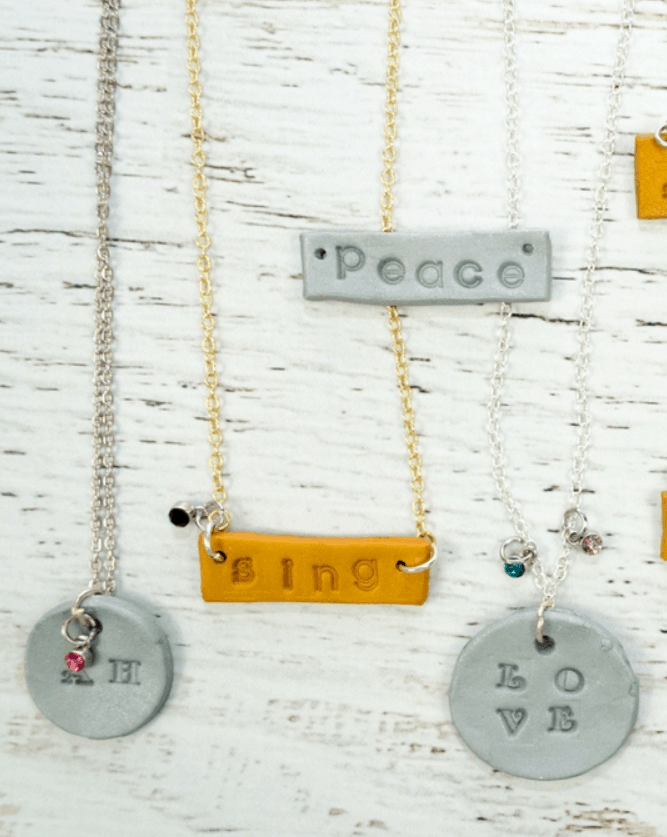 How to Make Stamped Polymer Clay Necklaces for Kids – Projects with Kids