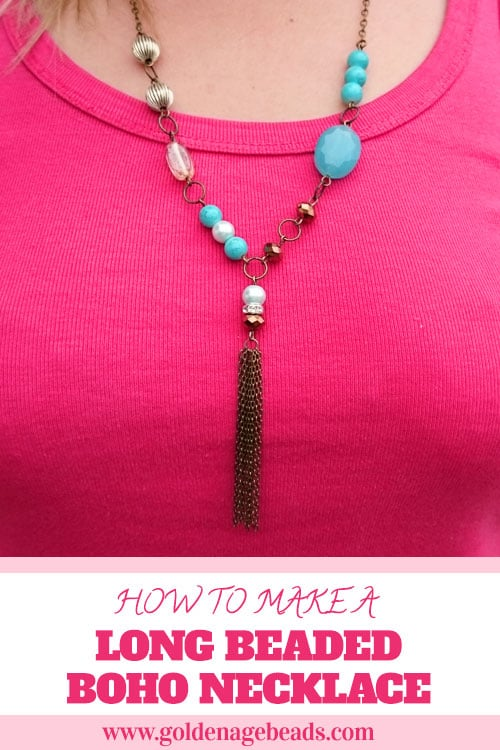 How to Make a Long Beaded Boho Necklace – Golden Age Beads