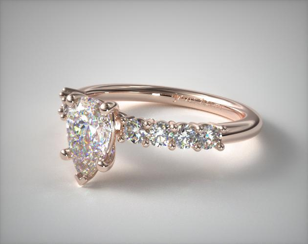Lab-Created Pear-Shaped Engagement Ring