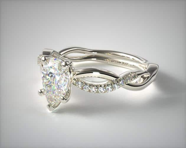 Lab-Created Pear-Shaped Infinity Ring