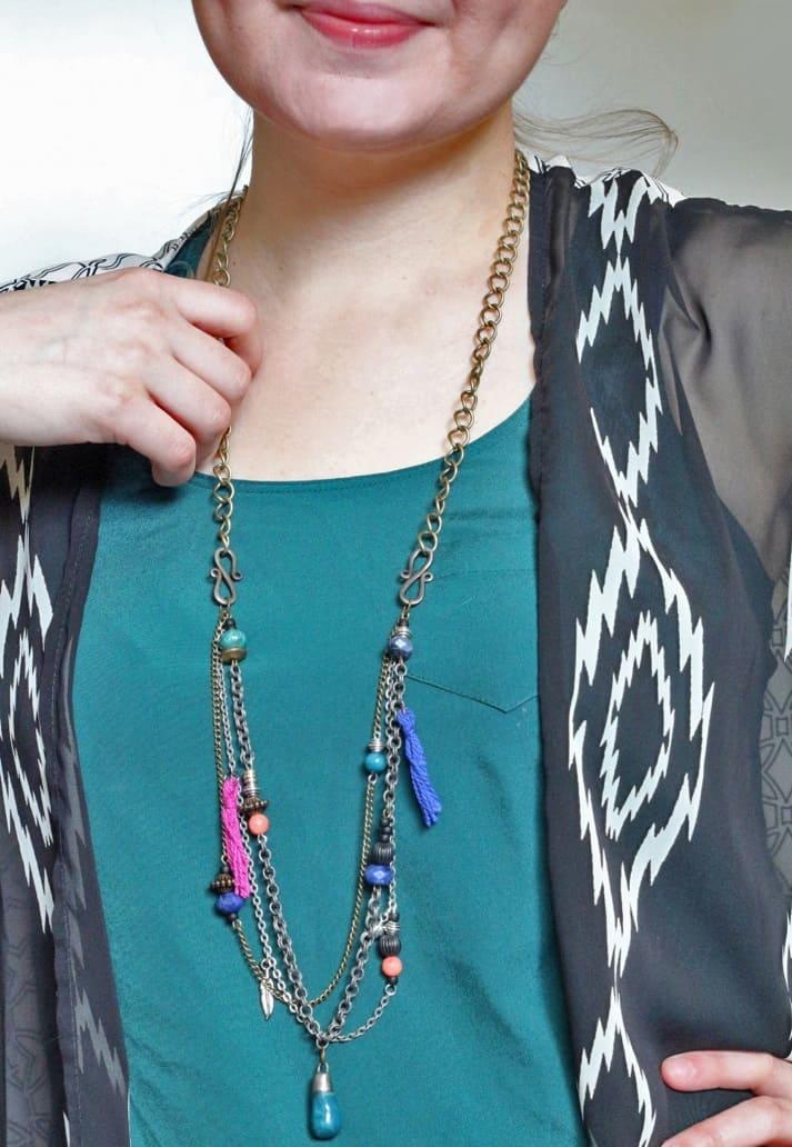 Layered Necklace DIY Boho Style – Crafts Unleashed
