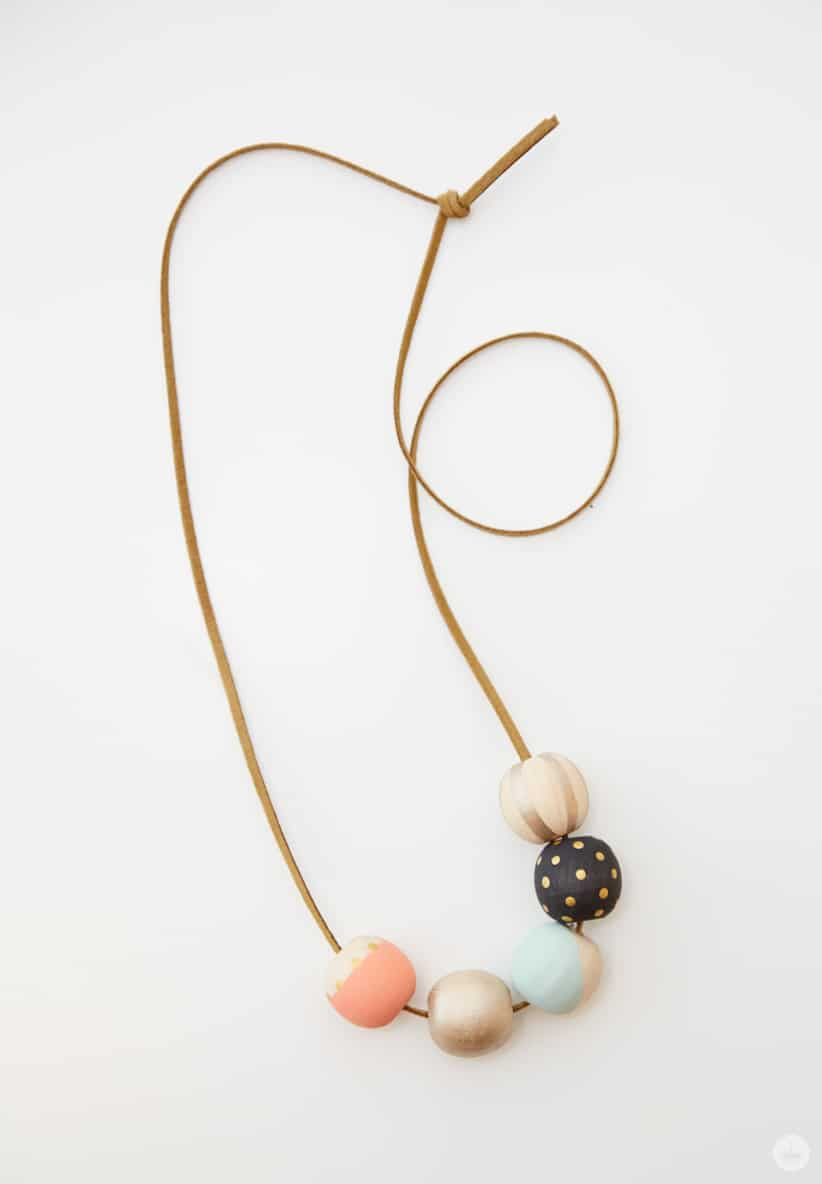 Make Your Own DIY Painted Wood Bead Necklace – Think.Make.Share.