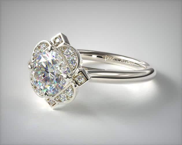 Platinum Art Deco Engagement Ring