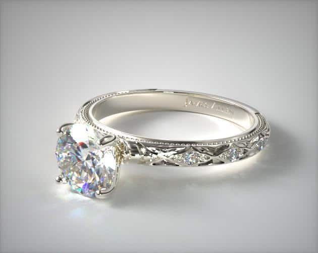 Platinum Blossom Engagement Ring