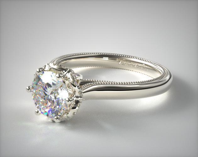 Platinum Classic Verragio Engagement Ring