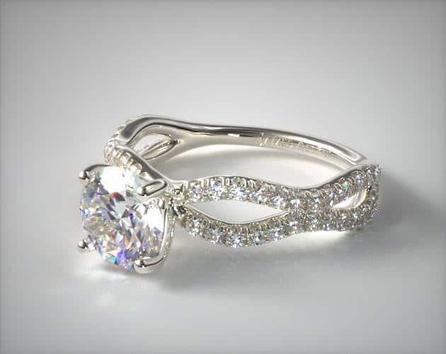 Platinum Pave Wave Ring