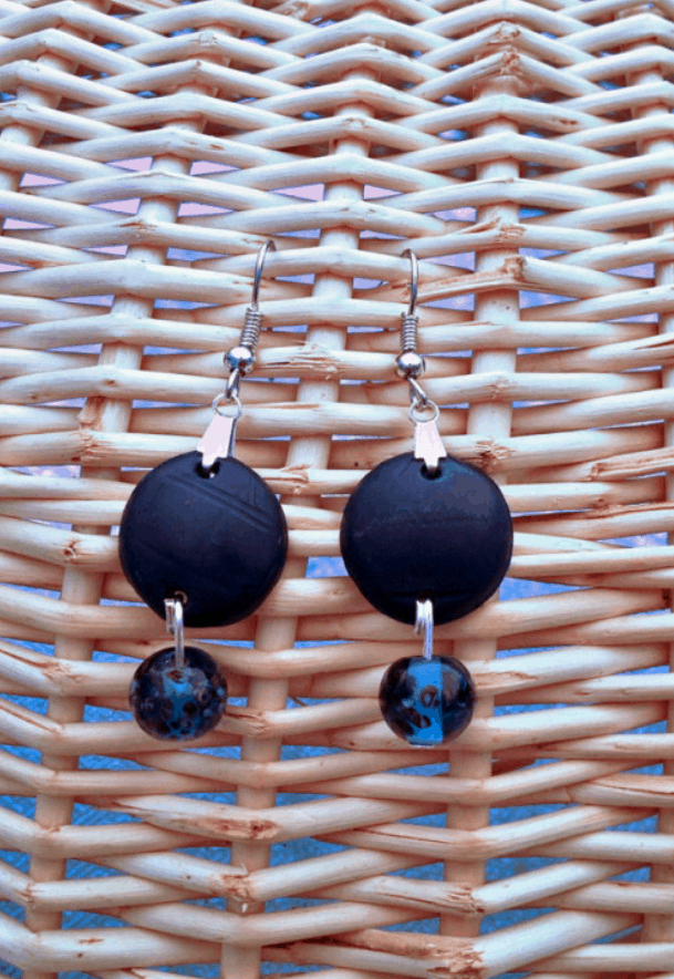 Polymer Clay Jewelry Tutorial Midnight Blue Necklace & Earrings