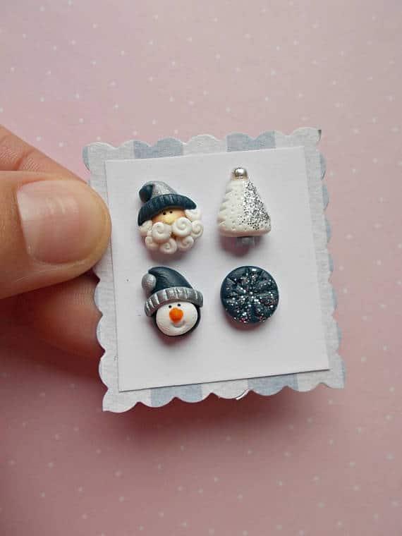 Polymer clay Christmas earrings ideas – Fimodiy.com