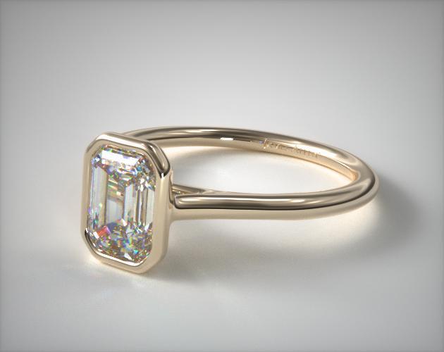 Round Bezel Comfort Engagement Ring