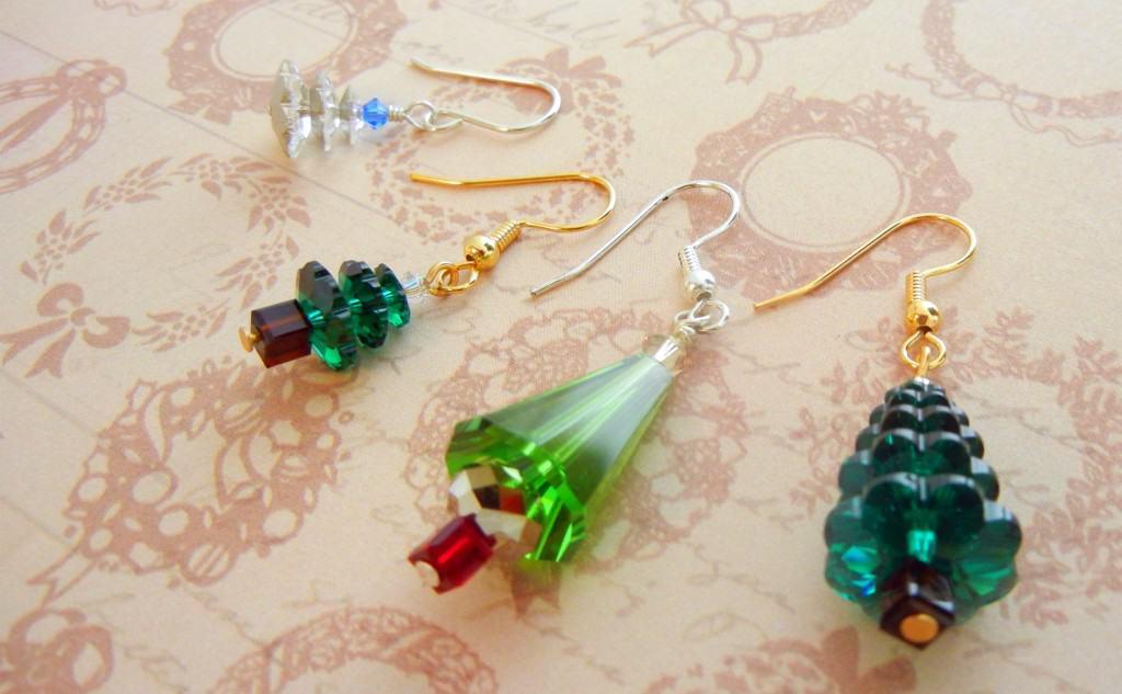 Swarovski Crystal Tree Earrings – Rings and Things