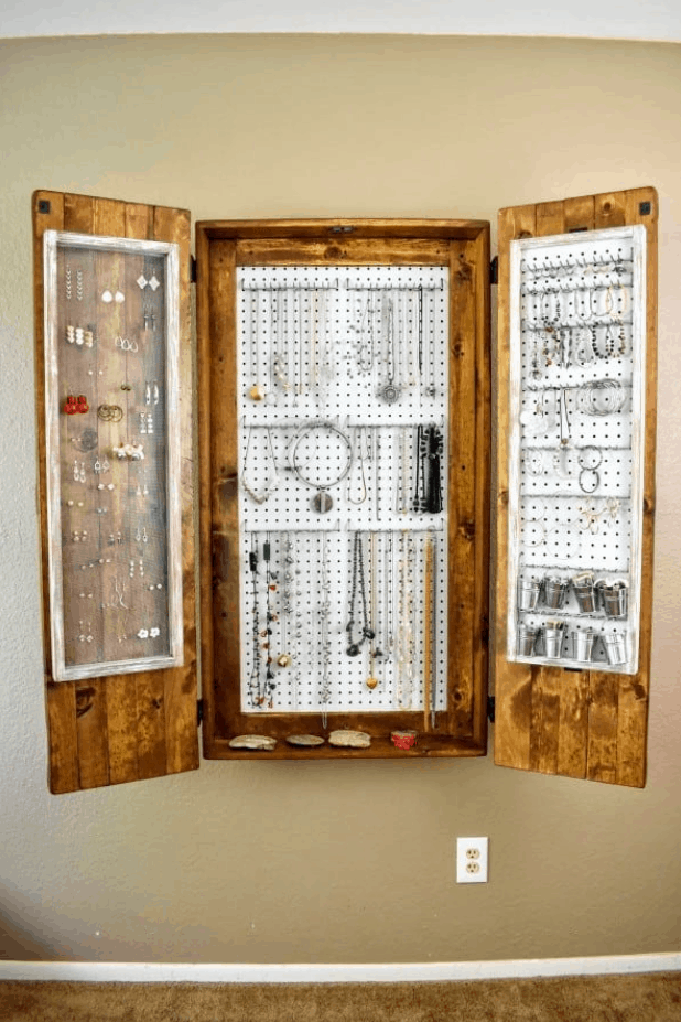 The Ultimate DIY Rustic Jewelry Cabinet – Attractive with Lots of Storage
