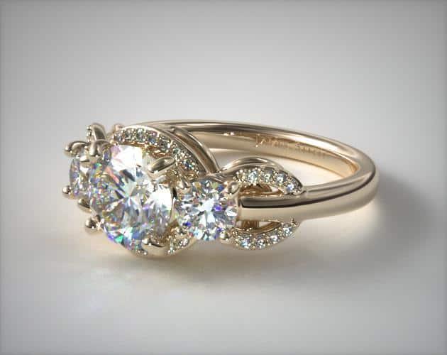 Three-Stone Silhouette Ring
