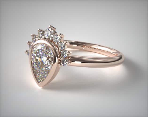 Tiara Pear Cut Engagement Ring