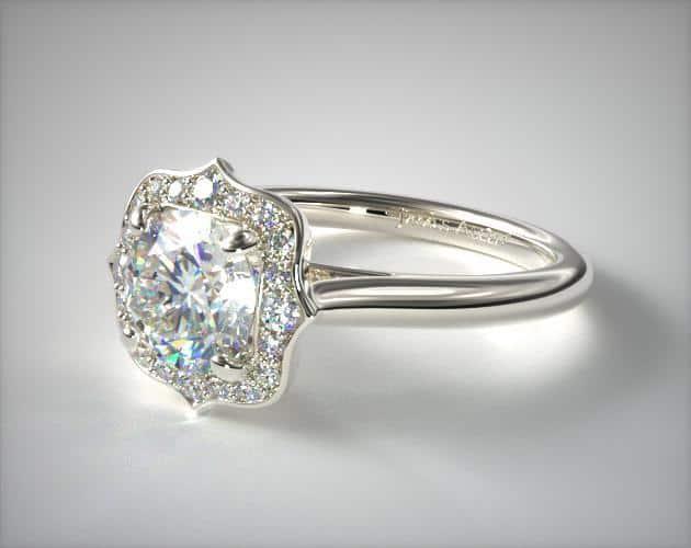 Vintage Inspired Antique Platinum Ring