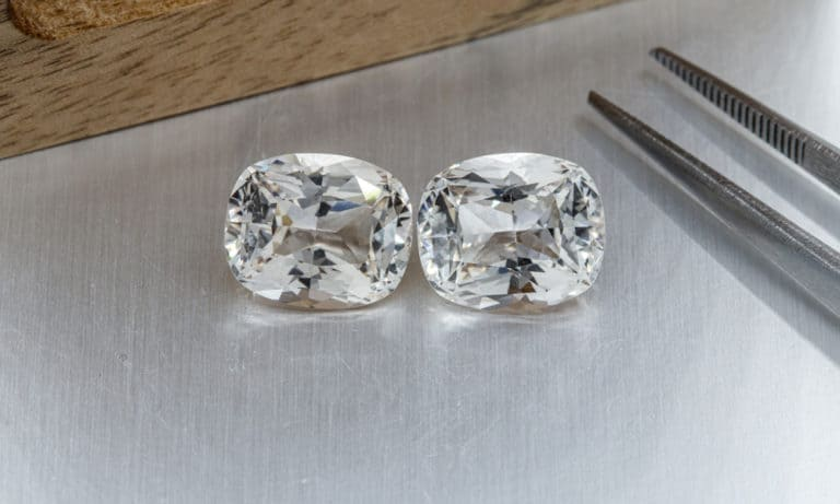 White Topaz vs. Diamonds What's the Difference