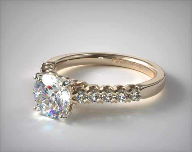 Yellow Gold Fishtail Engagement Ring