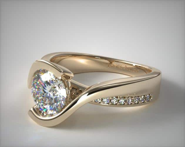 Yellow Gold Tension Ring