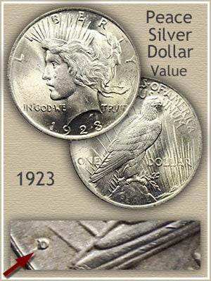 1923 D Silver Dollar