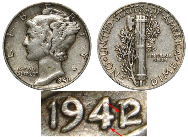 19421 Mercury Dime Error