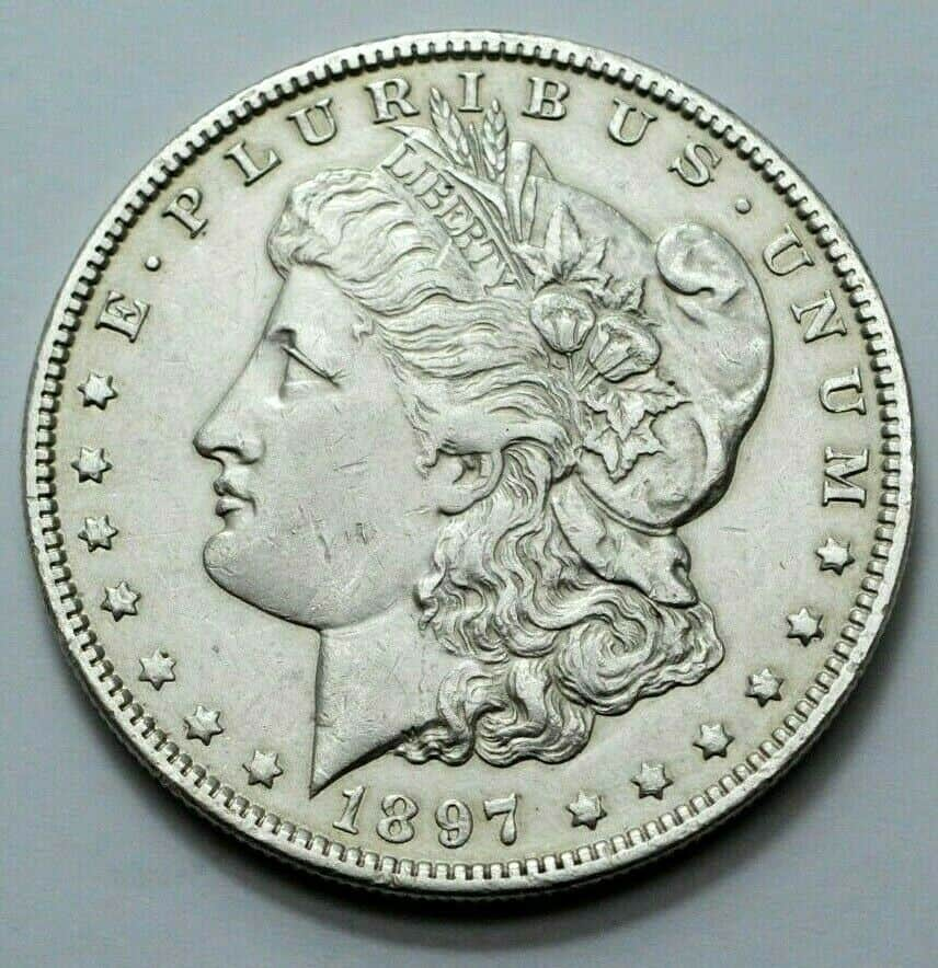 1897 Morgan Silver Dollar Obverse