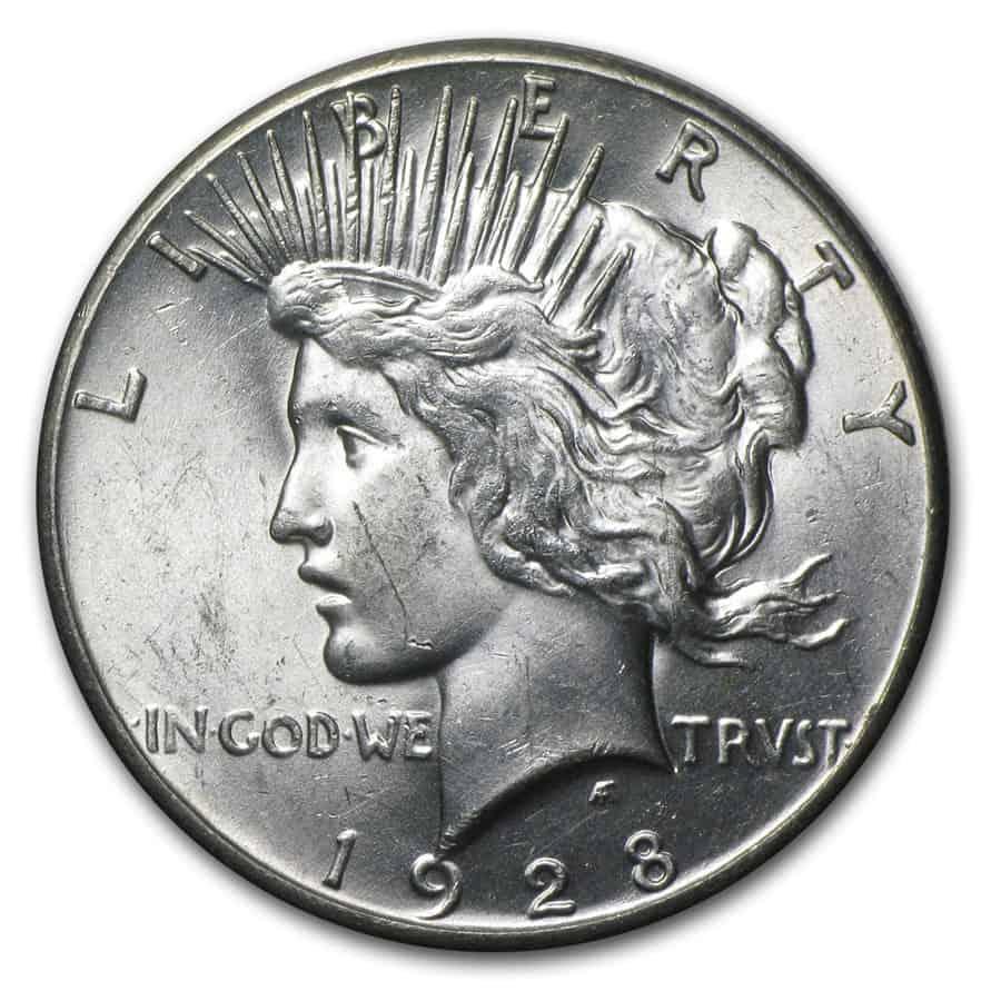 1928 Peace Silver Dollar Obverse