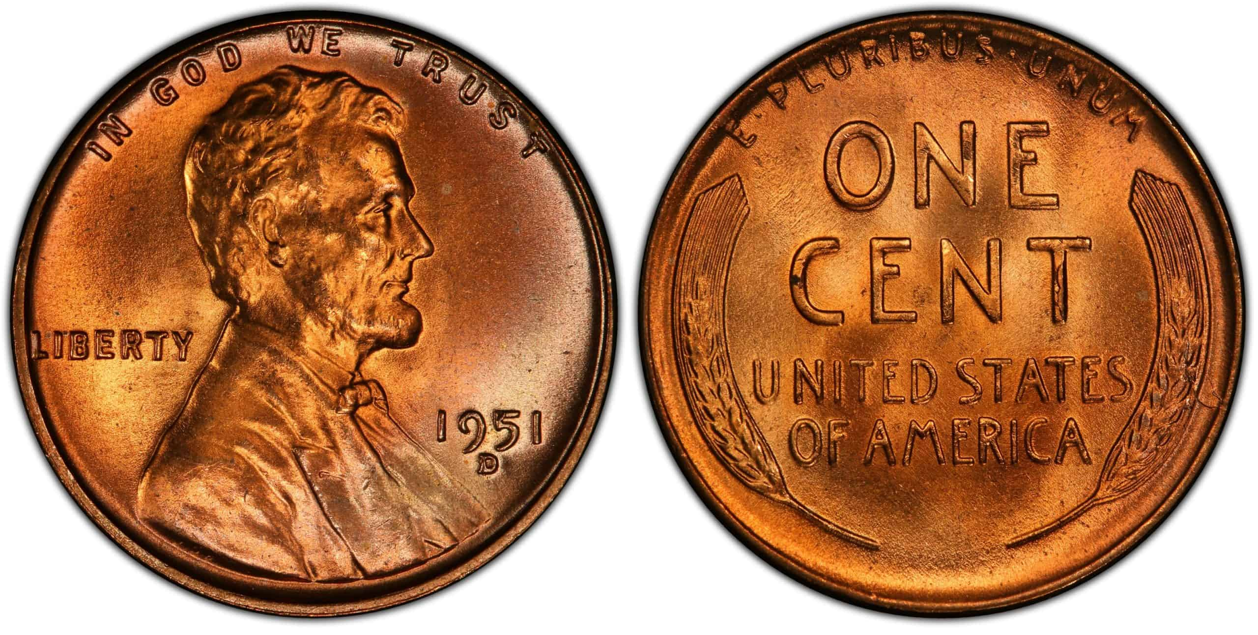 History of the 1951 wheat penny